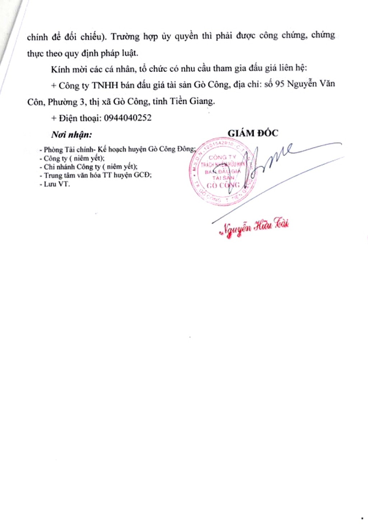 Ngày 22/3/2019, đấu giá hội trường của Trung tâm văn hóa huyện Gò Công Đông (tỉnh Tiền Giang) - ảnh 4