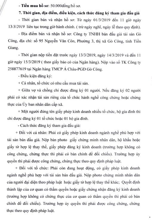 Ngày 16/3/2019, đấu giá tài sản của Trường Tiểu học Phước Trung 2 (tỉnh Tiền Giang) - ảnh 3