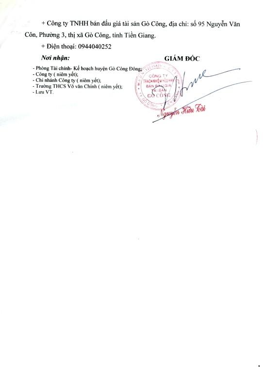 Ngày 18/3/2019, đấu giá 8 phòng học của Trường THCS Võ Văn Chính (tỉnh Tiền Giang) - ảnh 4
