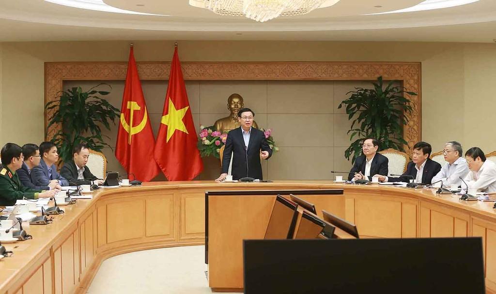 Phó Thủ tướng Vương Đình Huệ phát biểu chỉ đạo tại hội nghị. Ảnh: VGP.