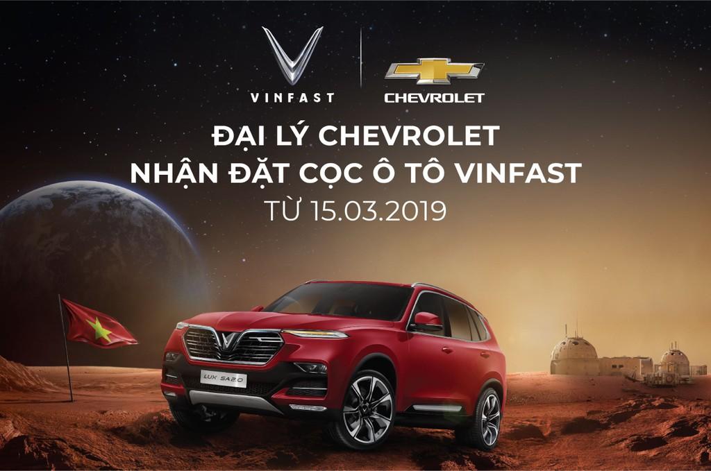 Chính thức nhận đặt cọc xe ô tô VinFast tại các đại lý Chevrolet