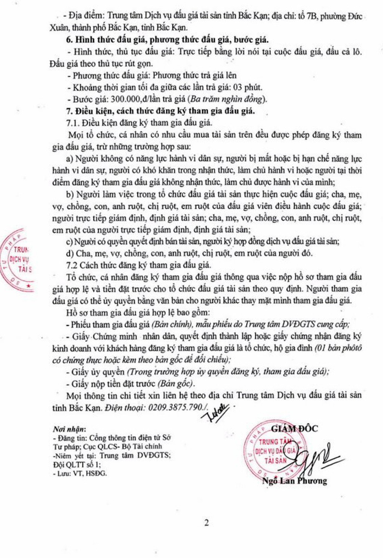 Ngày 27/03/2019, đấu giá hàng hóa, vật tư tại tỉnh Bắc Kạn - ảnh 2