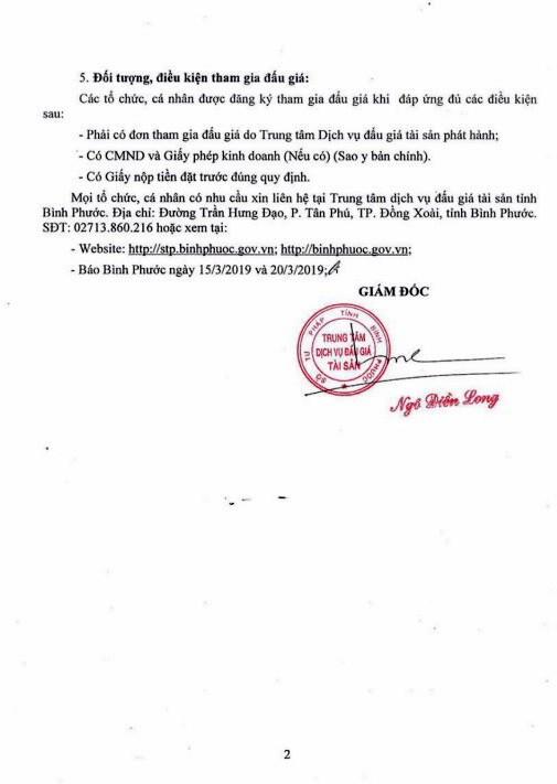 Ngày 4/4/2019, đấu giá 10 lóng, 2 gốc gỗ tại tỉnh Bình Phước - ảnh 2