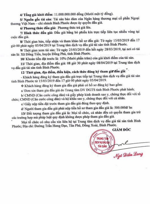 Ngày 8/4/2019, đấu giá quyền sử dụng đất và tài sản gắn liền với đất tại huyện Đồng Phú, tỉnh Bình Phước - ảnh 2