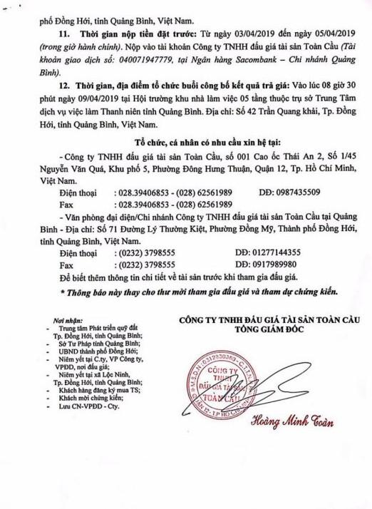 Ngày 9/4/2019, đấu giá quyền sử dụng 27 thửa đất tại thành phố Đồng Hới, tỉnh Quảng Bình - ảnh 4