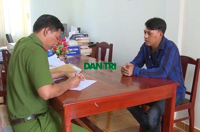 Nguyễn Văn Phương tại cơ quan Công an huyện Phú Quốc