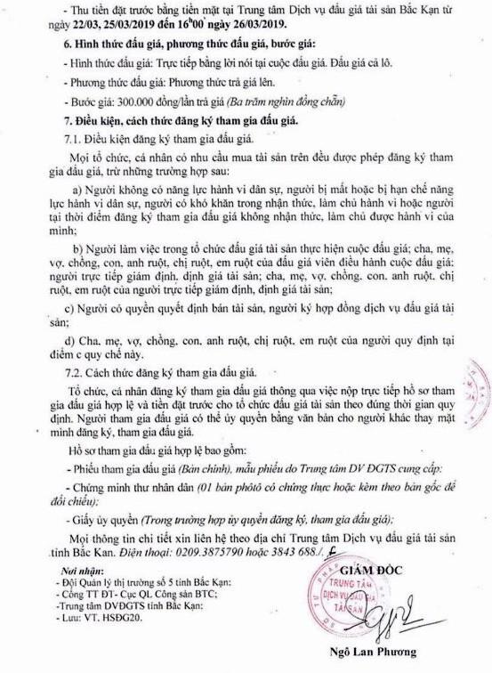 Ngày 27/3/2019, Đấu giá tang vật vi phạm hành chính tại tỉnh Bắc Kạn - ảnh 2