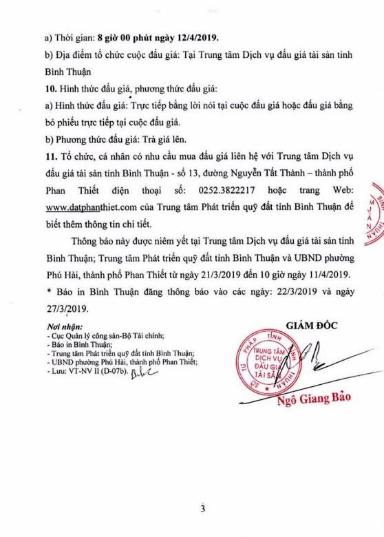 Ngày 12/4/2019, Đấu giá quyền sử dụng đất tại thành phố Phan Thiết, tỉnh Bình Thuận - ảnh 3