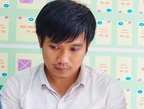 Trần Quang Thành tại cơ quan điều tra.