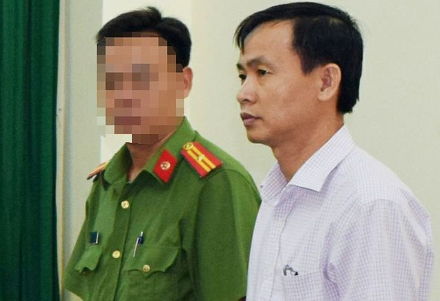 Trần Văn Tâm, nguyên giám đốc Công ty lương thực Trà Vinh khi bị khởi tố, bắt tạm giam
