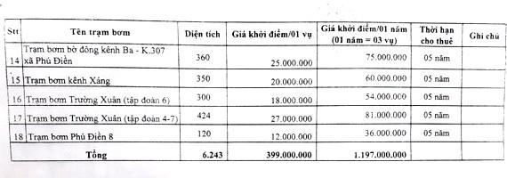 Ngày 5/4/2019, đấu giá cho thuê 18 trạm bơm tại tỉnh Đồng Tháp - ảnh 4