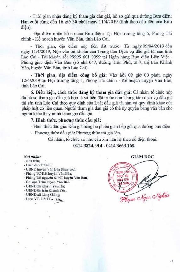 Ngày 12/4/2019, đấu giá quyền sử dụng đất tại huyện Văn Bàn, tỉnh Lào Cai - ảnh 3