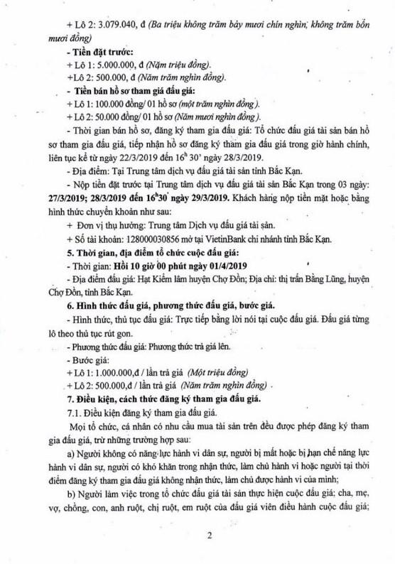 Ngày 1/4/2019, đấu giá gỗ tròn tại tỉnh Bắc Kạn - ảnh 2
