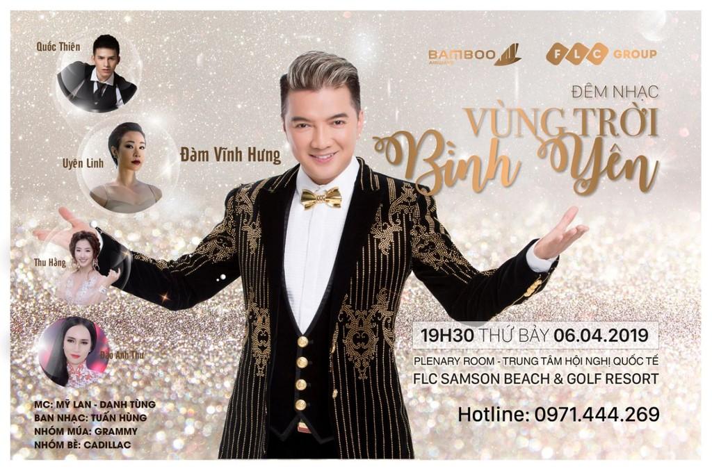 Bamboo Airways tặng khách mua combo bay TP Hồ Chí Minh – Thanh Hoá vé xem đêm nhạc Đàm Vĩnh Hưng