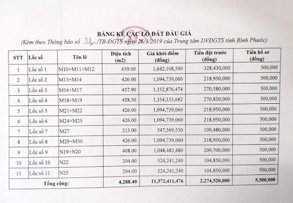 Ngày 19/4/2019, đấu giá quyền sử dụng 20 lô đất tại huyện Hớn Quảng, tỉnh Bình Phước - ảnh 3