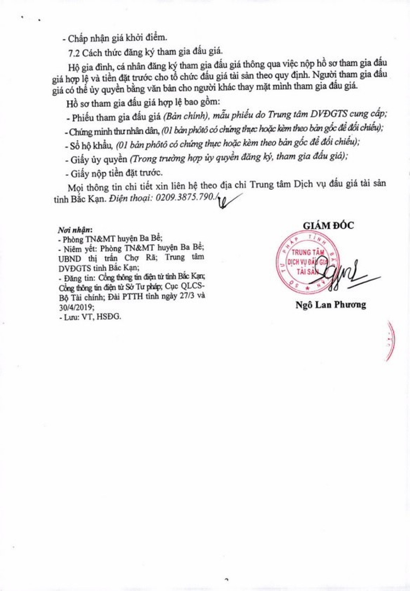 Ngày 18/4/2019, đấu giá quyền sử dụng 6 lô đất tại huyện Ba Bể, tỉnh Bắc Kạn - ảnh 3