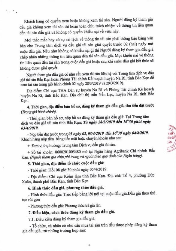 Ngày 5/4/2019, đấu giá tài sản tịch thu sung quỹ nhà nước tại tỉnh Bắc Kạn - ảnh 2