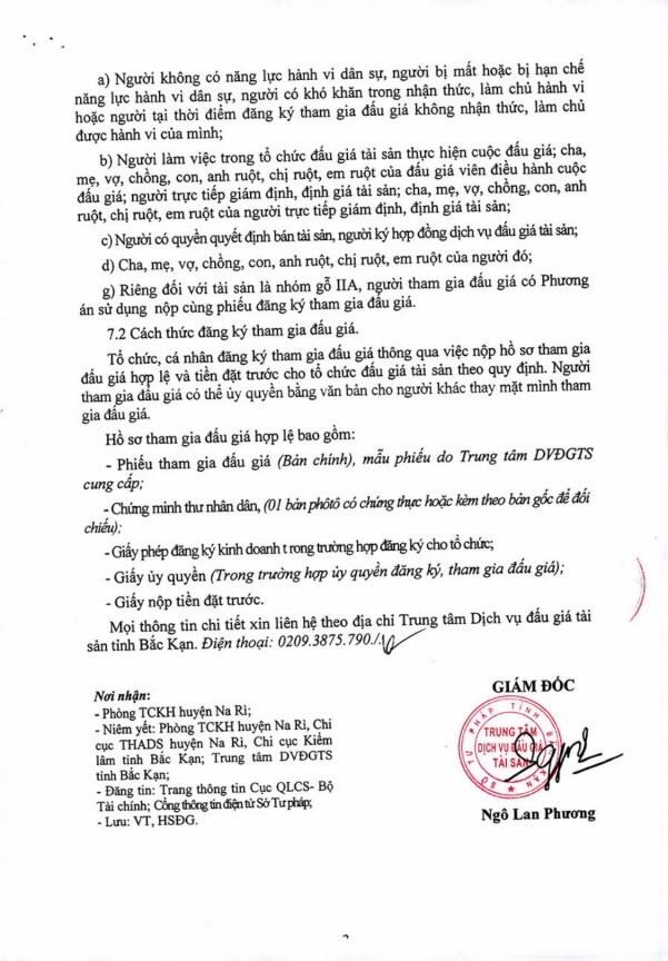 Ngày 5/4/2019, đấu giá tài sản tịch thu sung quỹ nhà nước tại tỉnh Bắc Kạn - ảnh 3