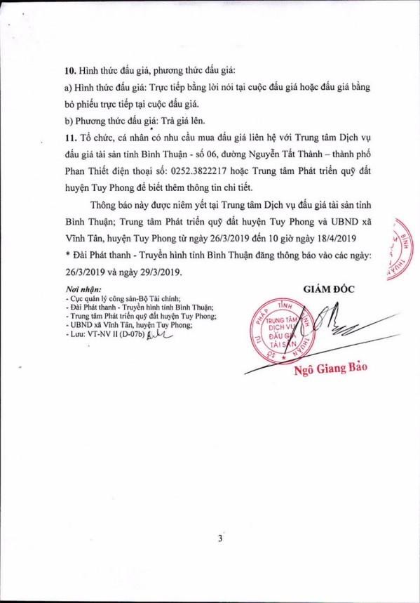 Ngày 19/4/2019, đấu giá quyền sử dụng 111 lô đất tại huyện Tuy Phong, tỉnh Bình Thuận - ảnh 3