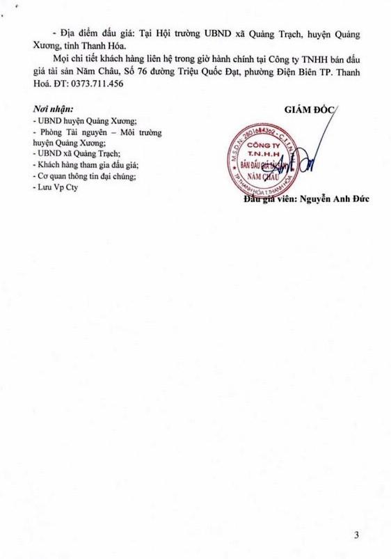 Ngày 19/4/2019, đấu giá quyền sử dụng đất tại huyện Quảng Xương, tỉnh Thanh Hóa - ảnh 3