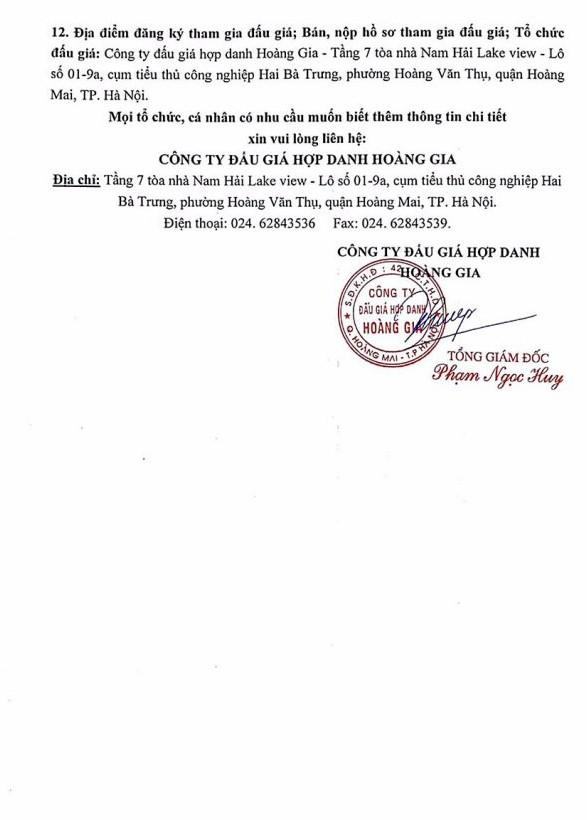 Ngày 19/4/2019, đấu giá tài sản, công cụ dụng cụ thanh lý tại Hà Nội - ảnh 2