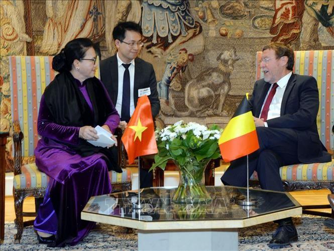 Chủ tịch Quốc hội Nguyễn Thị Kim Ngân hội kiến với Chủ tịch Hạ viện Vương quốc Bỉ Siegfried Bracke.