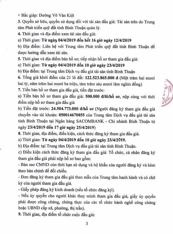 Ngày 26/4/2019, đấu giá quyền sử dụng đất 21 lô đất tại thành phố Phan Thiết, tỉnh Bình Thuận - ảnh 3