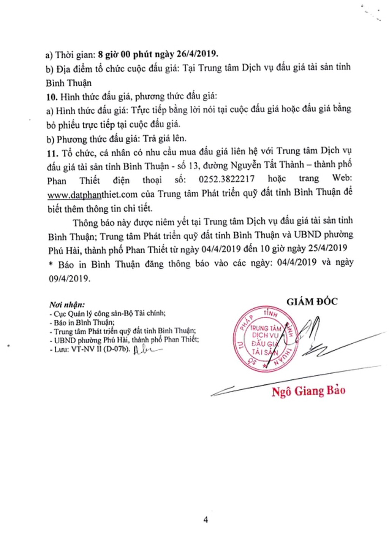 Ngày 26/4/2019, đấu giá quyền sử dụng đất 21 lô đất tại thành phố Phan Thiết, tỉnh Bình Thuận - ảnh 4