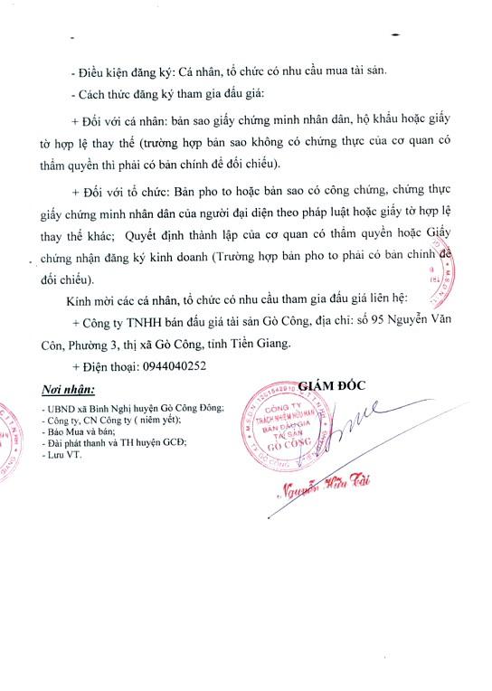 Ngày 22/4/2019, đấu giá quyền thu phí dịch vụ diện tích bán hàng tại chợ Bình Nghị (tỉnh Tiền Giang) - ảnh 3