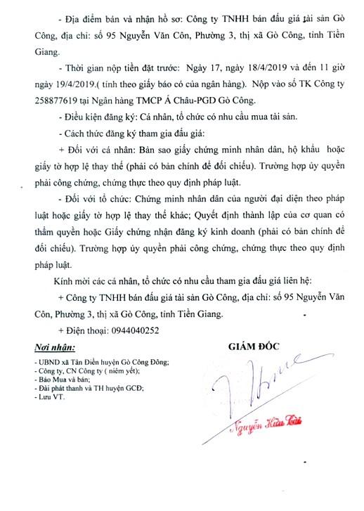 Ngày 22/4/2019, đấu giá quyền khai thác sò giống tại tỉnh Tiền Giang - ảnh 3