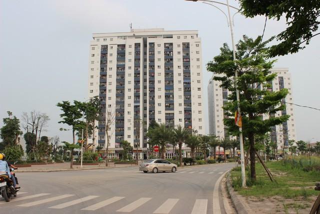 Khu nhà HH01 xây vượt tầng so với quy hoạch được duyệt tại khu đô thị Thanh Hà Cienco 5