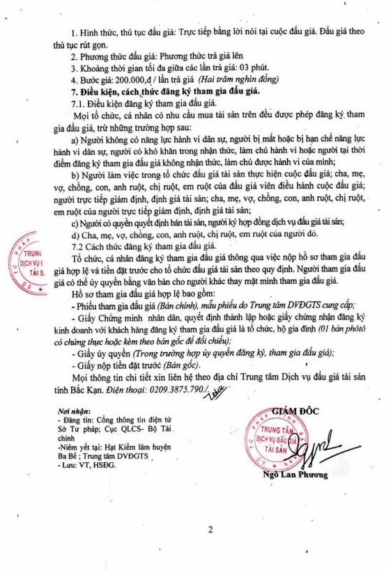 Ngày 12/4/2019, đấu giá tài sản vi phạm tịch thu sung quỹ bị tại tỉnh Bắc Kạn - ảnh 2