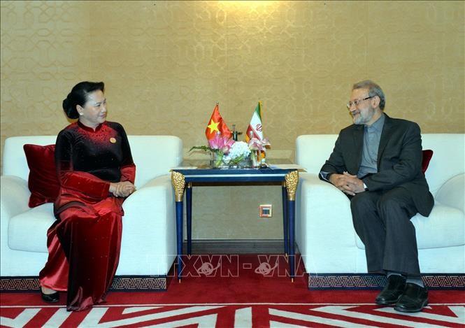 Chủ tịch Quốc hội Nguyễn Thị Kim Ngân và Chủ tịch Quốc hội Iran Ali Ardeshir Larijani