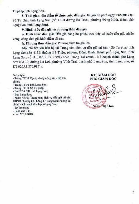 Ngày 9/5/2019, đấu giá quyền sử dụng đất tại TP. Lạng Sơn, tỉnh Lạng Sơn - ảnh 3