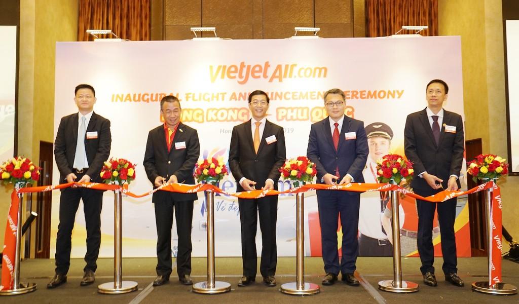 Nghi thức khai trương chào mừng đường bay mới Hồng Kông – Phú Quốc