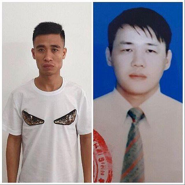Hai đối tượng bị bắt về hành vi cho vay nặng lãi là Hoàng Duy Thảo và Nguyễn Văn Mạnh (bìa trái).