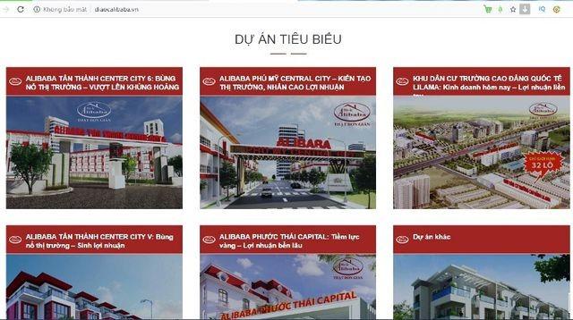 Theo ghi nhận của PV, hiện trang thông tin điện tử tổng hợp www.topsukien.vn và một số website khác có tên miền www.diaocalibaba không còn hoạt động.