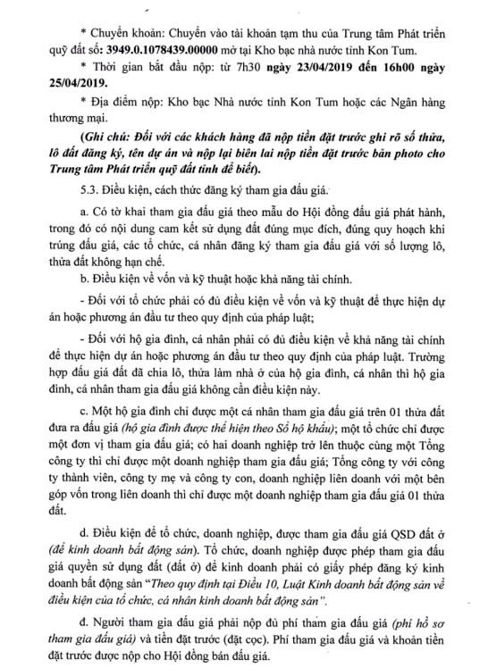 Ngày 26/4/2019, đấu giá quyền sử dụng 14 thửa đất tại TP.Kon Tum, tỉnh Kon Tum - ảnh 2