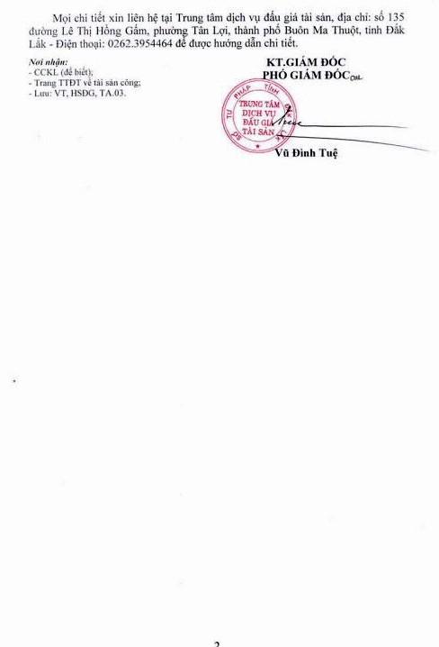 Ngày 25/4/2019, đấu giá phương tiện vi phạm hành chính tịch thu sung quỹ tại tỉnh Đắk Lắk   - ảnh 2