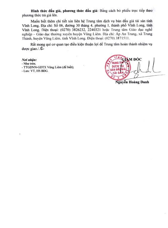 Ngày 27/4/2019, đấu giá vật tư thu hồi thanh lý tài sản tại tỉnh Vĩnh Long - ảnh 2