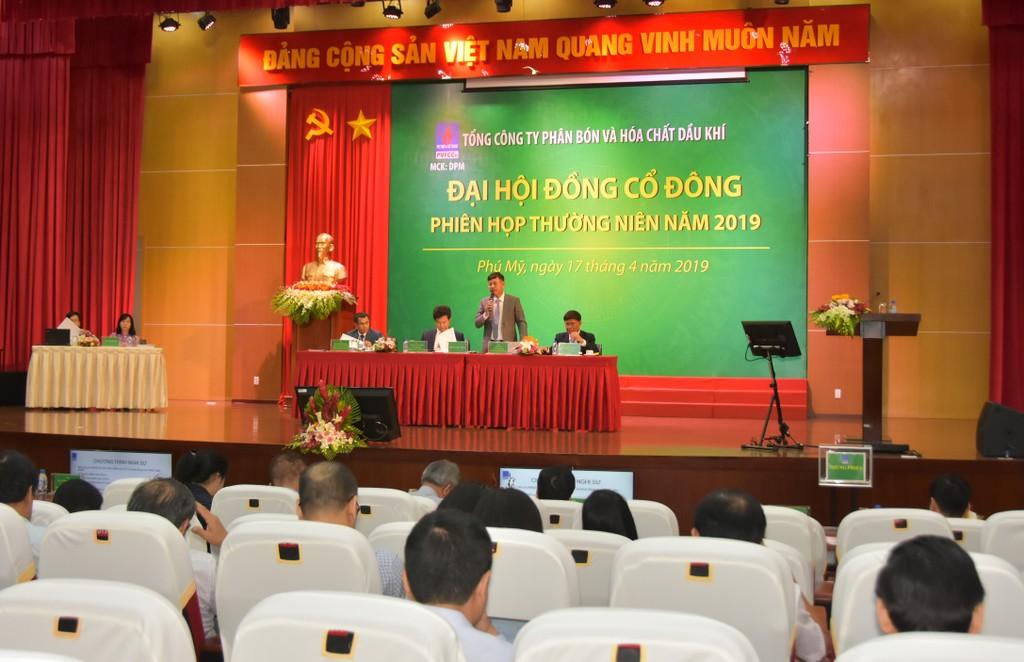 Quang cảnh Đại hội đồng cổ đông Tổng công ty Phân bón và Hóa chất Dầu khí