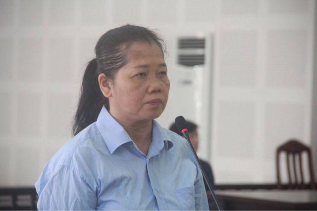 Bị cáo Trần Thị Hà tại phiên tòa