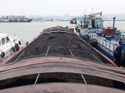 Tàu chở 900 tấn than cám bị bắt giữ.