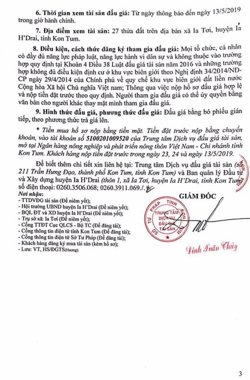 Ngày 16/5/2019, đấu giá quyền sử dụng đất tại huyện Ia H'Drai, tỉnh Kon Tum - ảnh 3
