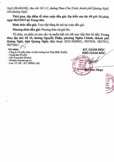 Ngày 6/5/2019, đấu giá lô vật tư cũ thanh lý tại tỉnh Quảng Ngãi - ảnh 2