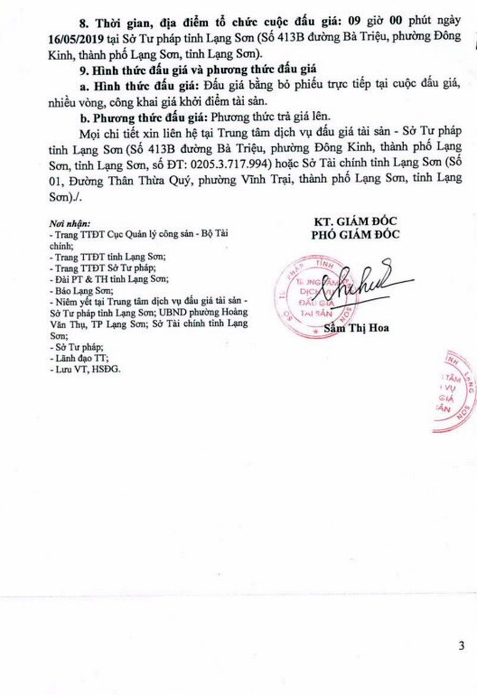 Ngày 16/5/2019, đấu giá quyền sử dụng đất tại thành phố Lạng Sơn, tỉnh Lạng Sơn - ảnh 3