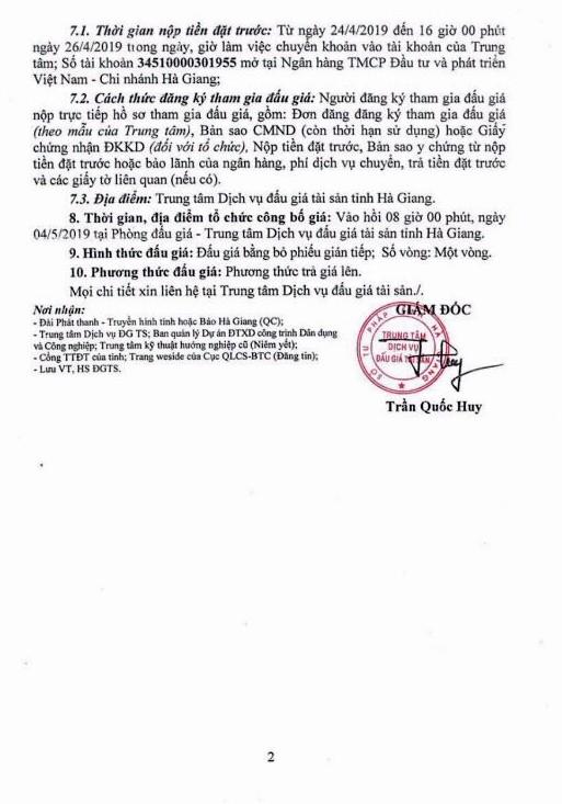 Ngày 4/5/2019, đấu giá vật tư, vật liệu tại tỉnh Hà Giang - ảnh 2