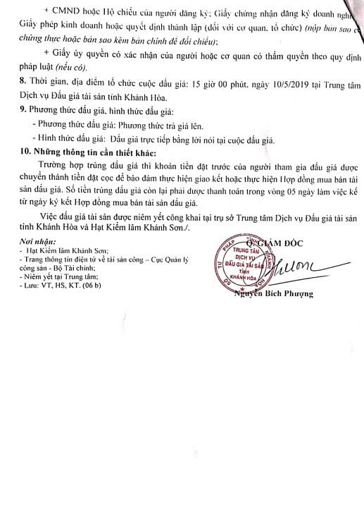 Ngày 10/5/2019, đấu giá 50,438 m3 gỗ xẻ hộp và 2,376 m3 gỗ tròn các loại tại tỉnh Khánh Hòa - ảnh 2