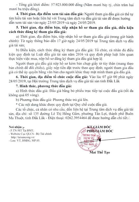 Ngày 28/5/2019, đấu giá quyền sử dụng 38 thửa đất tại thành phố Buôn Ma Thuột, tỉnh Đắk Lắk - ảnh 2