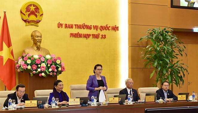 Phiên họp thứ 33 của Ủy ban Thường vụ Quốc hội